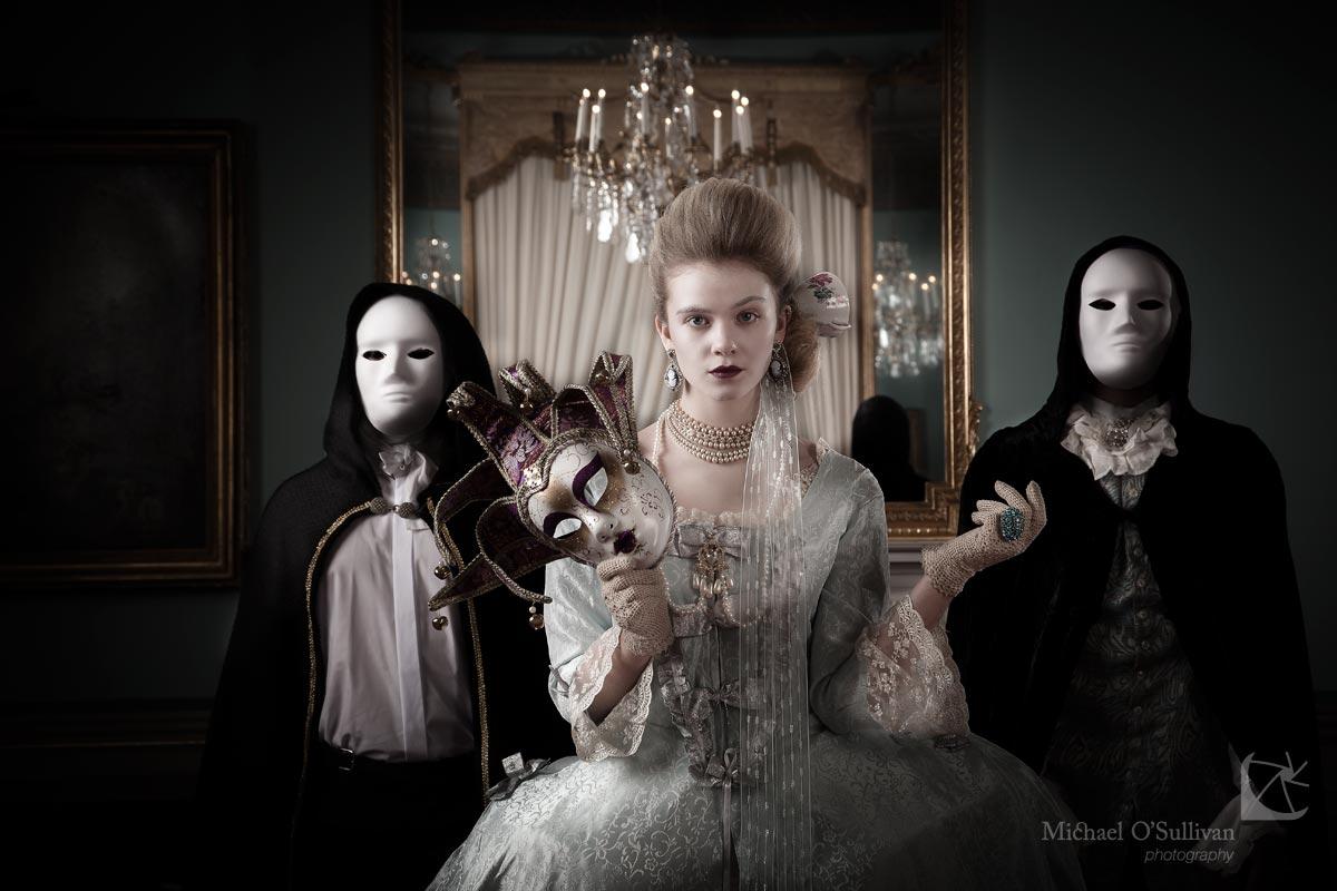 "Above - ""Masquerade"" - Models: Leah McNamara with Robert Clarke & Vafa Lightfoot"
